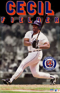 "Cecil Fielder ""Slugger""Detroit Tigers MLB Action Poster - Starline 1991"