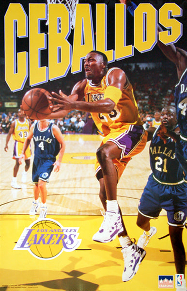 "Cedric Ceballos ""Prime"" Los Angeles Lakers NBA Action Poster - Starline 1996"
