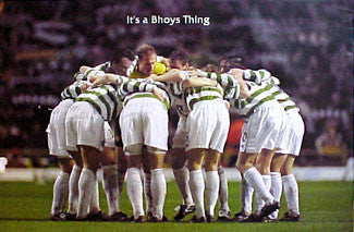 "Glasgow Celtic FC ""Bhoys Thing"" Huddle Poster - U.K. 2001"