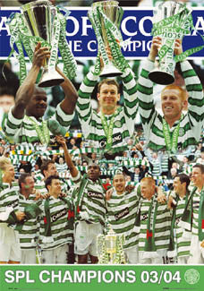 "Glasgow Celtic ""Champions 2004"" SPL Soccer Poster - GB Posters"