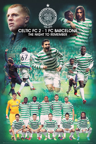"Celtic FC ""The Night to Remember"" (Victory over Barca) Poster - GB Eye 2012"