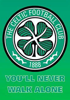 "Celtic FC ""Never Walk Alone"" Official Logo Poster - GB Eye"