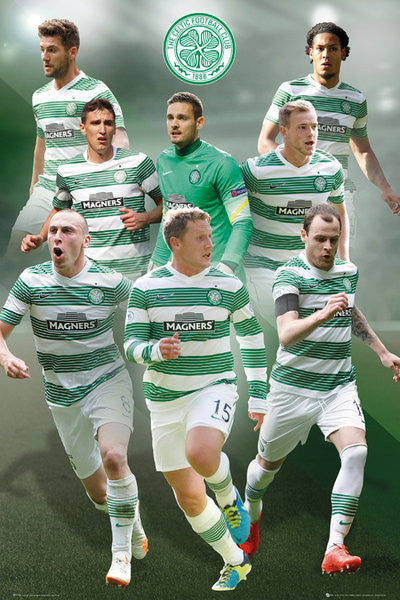 "Celtic FC ""Big Eight"" (2014/15) EPL Soccer Action Poster - GB Eye (UK)"
