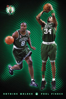 "Boston Celtics ""Dynamic Duo"" (Paul Pierce, Antoine Walker) Poster - Costacos 2002"