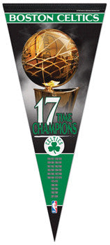 Boston Celtics 17-Time Champions EXTRA-LARGE Premium Felt Pennant