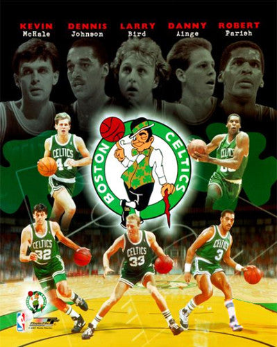 "Boston Celtics ""Five Legends"" (1980s) Premium NBA Poster Print  - Photofile Inc."