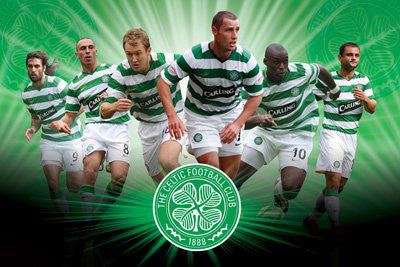"Glasgow Celtic FC ""Super Six 2009/10"" Soccer Poster - Pyramid Posters"