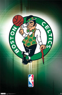 Boston Celtics Official NBA Logo Poster - Costacos Sports
