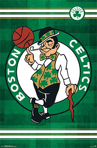 Boston Celtics Official NBA Basketball Team Logo Poster - Costacos Sports