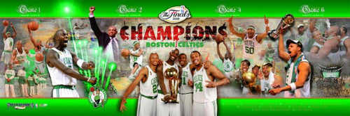 Boston Celtics 2008 NBA Champions Photoramic (12x36) Commemorative Poster Print - Photofile Inc.