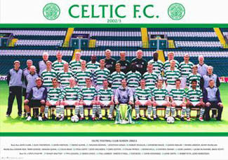 Glasgow Celtic Official Team Poster 2002/03 - GB Posters