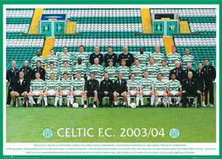 Glasgow Celtic Official Team Portrait 2003/04 - GB Posters