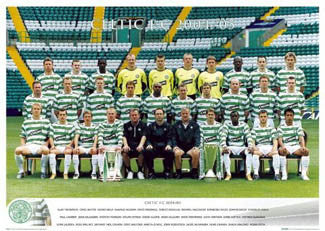 Glasgow Celtic Official Team Portrait 2004/05 - GB Posters