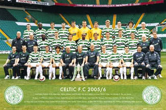 Glasgow Celtic Official Team Portrait 2005/06 - GB Posters