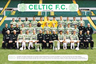 Glasgow Celtic Official Team Portrait 2006/2007 - GB Posters