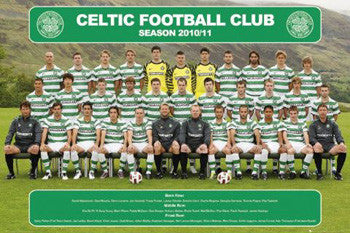 Glasgow Celtic Official Team Portrait 2010/11 - GB Posters