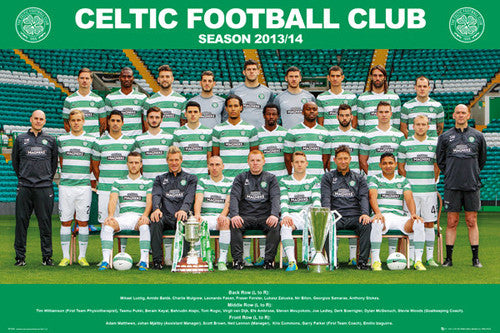 Glasgow Celtic FC 2013/14 Official Team Portrait Poster - GB Eye (UK)