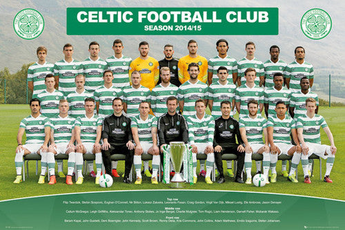 Celtic FC Official SPL Soccer Team Portrait 2014/15 Poster - GB Eye (UK)