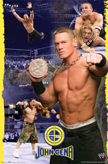 "John Cena ""Chain Gang Soldier"" WWE Wrestling Poster - Trends International 2007"