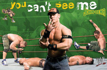 "John Cena ""You Can't See Me"" WWE Wrestling Action Poster - Costacos Sports"