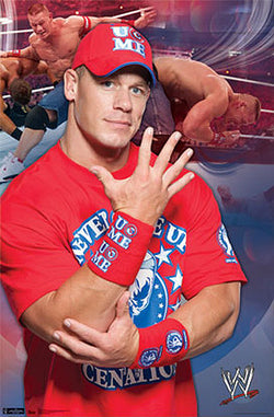 "John Cena WWE ""U Can't See Me"" WWE Wrestling Poster - Trends 2011"