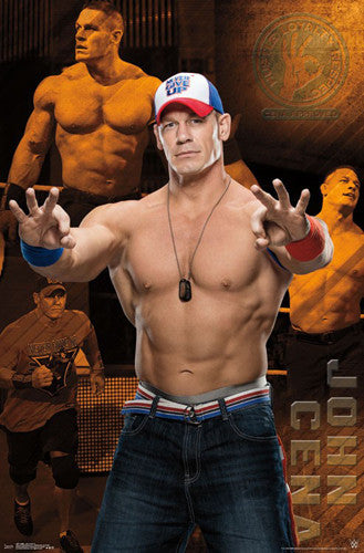"John Cena ""Hustle Loyalty Respect"" WWE Wrestling Official Wall POSTER - Trends 2016"