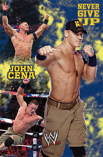 "John Cena ""Never Give Up"" WWE Wrestling Poster - Trends International 2013"