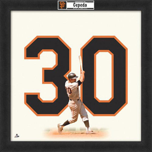 "Orlando Cepeda ""Number 30"" San Francisco Giants MLB FRAMED 20x20 UNIFRAME PRINT - Photofile"