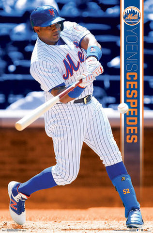 "Yoenis Cespedes ""Slugger"" New York Mets Official MLB Baseball Action POSTER - Trends 2017"