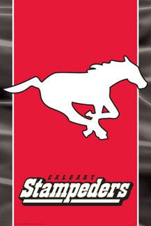 CFL Calgary Stampeders Official Team Logo Poster - Aquarius
