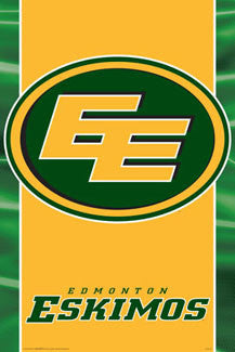 CFL Edmonton Eskimos Official Team Logo Poster - Aquarius