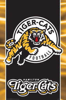 CFL Hamilton Tiger-Cats Official Logo Poster - Aquarius Inc.