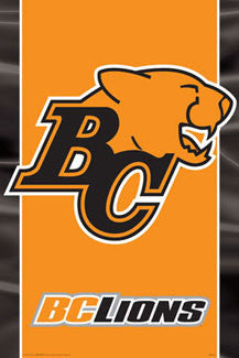 CFL B.C. Lions Official Team Logo Poster - Aquarius Inc.