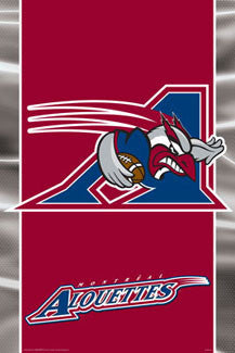 CFL Montreal Alouettes Official Team Logo Poster - Aquarius