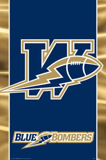 CFL Winnipeg Blue Bombers Official Team Logo Poster