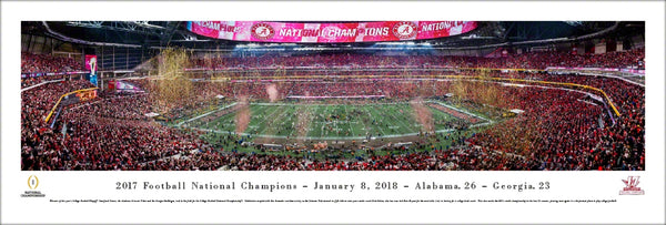 *SHIPS 1/19* Alabama Crimson Tide 2017 NCAA Football National Champions Panoramic Poster Print - Blakeway