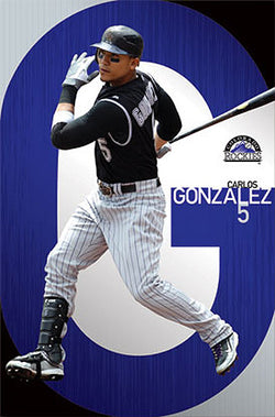 "Carlos Gonzalez ""Big G"" Colorado Rockies Poster - Costacos 2011"