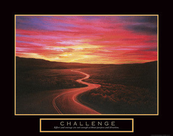 "Winding Road ""Challenge"" Motivational Poster - Front Line"