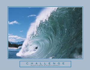 "Ocean Wave ""Challenge"" Motivational Poster - Front Line"