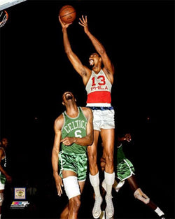 "Wilt Chamberlain vs. Bill Russell ""Post Up"" (1966) Classic NBA Premium Poster Print - Photofile Inc."