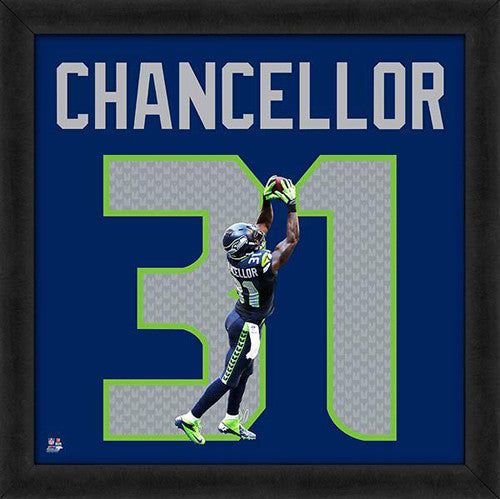 "Kam Chancellor ""Number 31"" Seattle Seahawks FRAMED 20x20 UNIFRAME PRINT - Photofile"