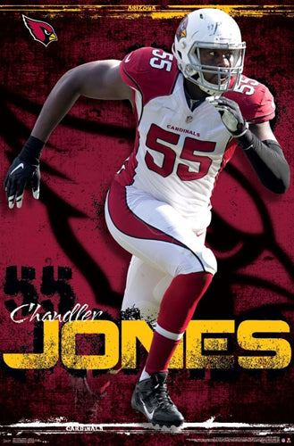 "Chandler Jones ""Red Rocket"" Arizona Cardinals Official NFL Football Wall Poster - Trends International"