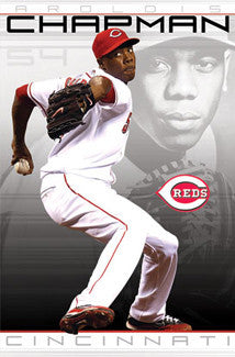 "Aroldis Chapman ""Flamethrower"" Cincinnati Reds Poster - Costacos 2011"
