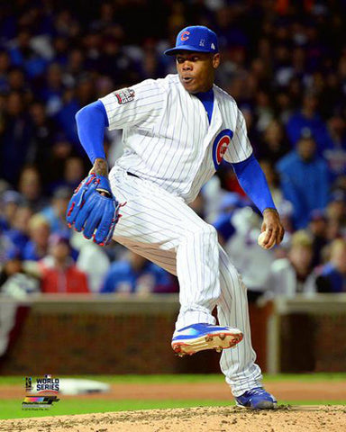 "Aroldis Chapman ""Lights Out"" Chicago Cubs World Series Gm.5 Premium Poster Print - Photofile 16x20"