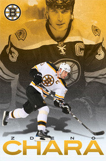 "Zdeno Chara ""Superstar"" Boston Bruins Poster - Costacos 2010"