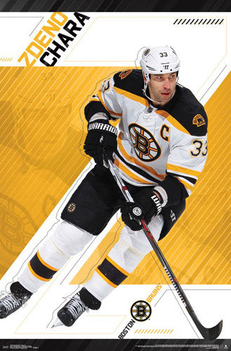 "Zdeno Chara ""Big D"" Boston Bruins Official NHL Hockey Poster - Trends International 2017"