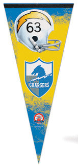 San Diego Chargers Classic AFL Style Extra-Large Premium Felt Pennant