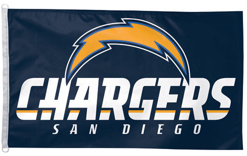 San Diego Chargers Official NFL Football 3'x5' Flag - Wincraft Inc.
