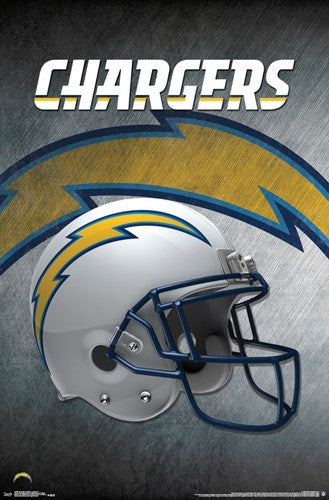 Los Angeles Chargers Official NFL Football Team Helmet Logo Poster - Trends International