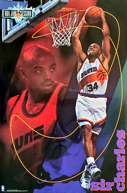 "Charles Barkley ""Jam Session"" Phoenix Suns NBA Action Poster - Costacos Brothers 1993"